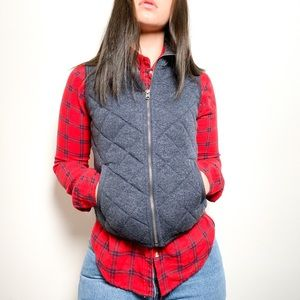 Abercrombie and Fitch Blue Quilted Women's Vest